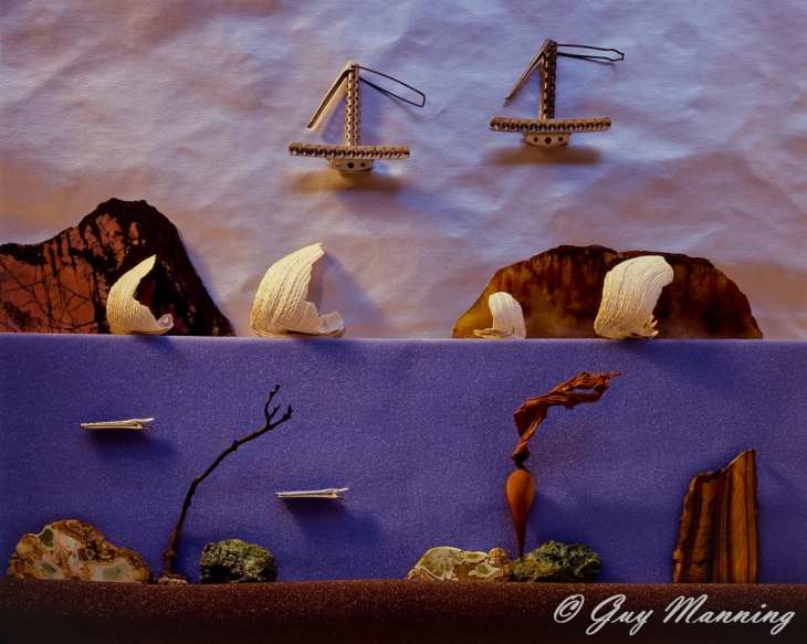 Diorama image of a fantasy seascape.
