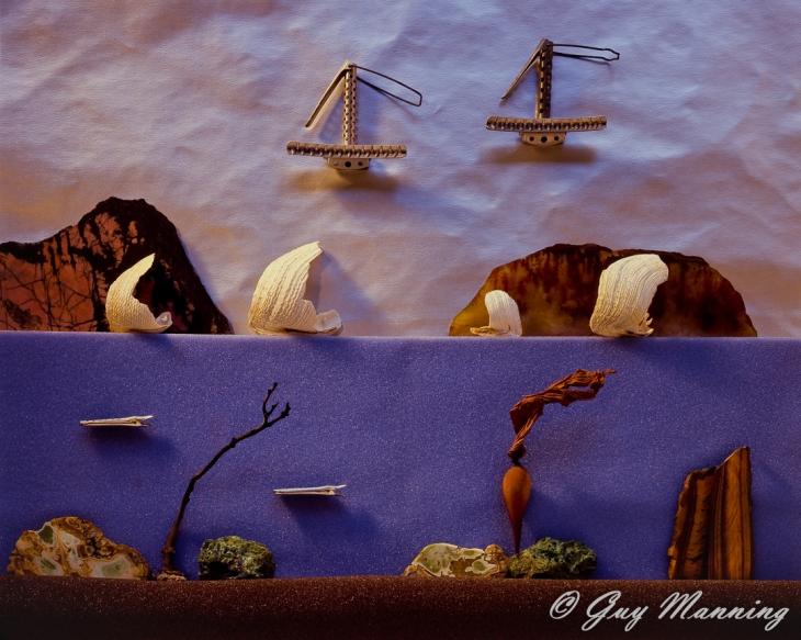 Diorama image of a fantasy seascape.