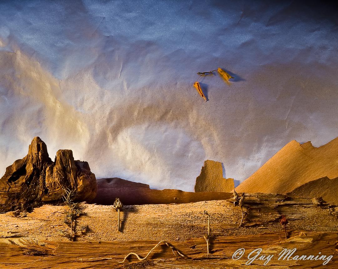 Diorama image of a fantasy landscape.