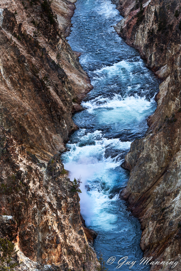 Photo of Yellowstone River within the Grand Canyon of the Yellowstone.